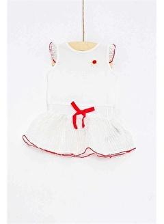 çikoby Çikoby Kız Bebek Dantel Detaylı Fiyonklu Elbise CK-CK2514